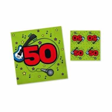 Feest servetten 50 jaar groen