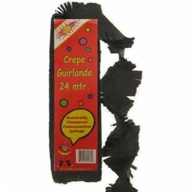 Feest slingers zwart 24 meter