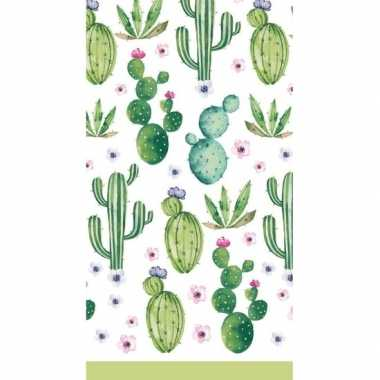 Feest tafelkleed cactus 138 x 220 cm