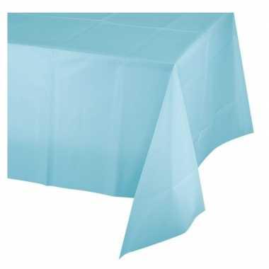 Feest tafelkleed lichtblauw 137 x 274 cm afneembaar plastic