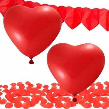 Feest valentijnsdag versiering pakket rood