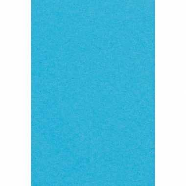 Feest versiering aqua blauw tafelkleed 137 x 274 cm papier
