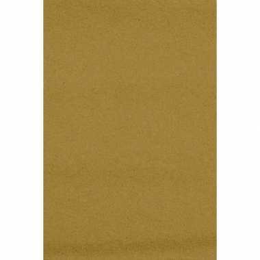 Feest versiering goudkleurig tafelkleed 137 x 274 cm papier