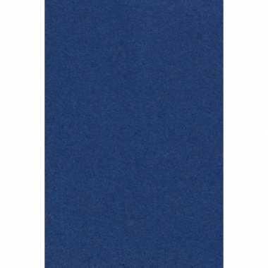 Feest versiering navy donkerblauw tafelkleed 137 x 274 cm papier