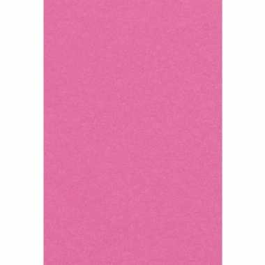 Feest versiering roze tafelkleed 137 x 274 cm papier