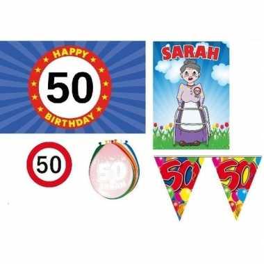 Feestpakket 50 jaar sarah