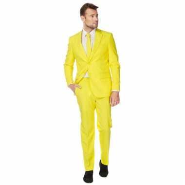 Fel geel maatpak voor heren