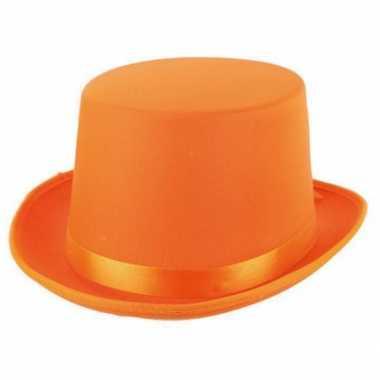 Fel oranje hoge hoed