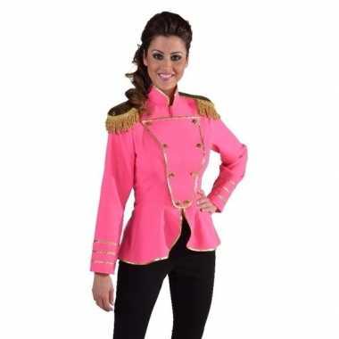 Fel roze kostuum jas voor dames