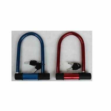 Fiets beugelslot blauw 15 x 20 cm