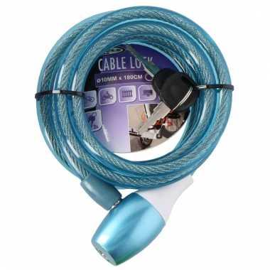 Fiets kabelslot blauw