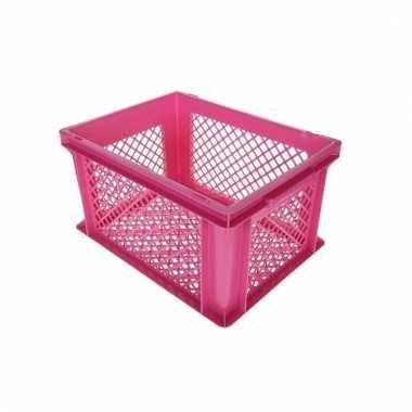 Fietsmand / opslagmand roze 40 x 30 cm