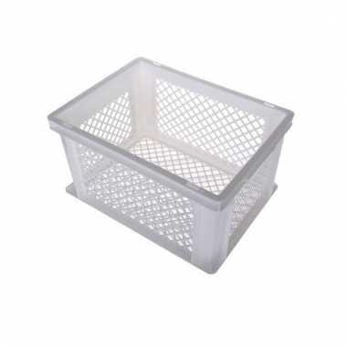 Fietsmand / opslagmand wit 40 x 30 cm