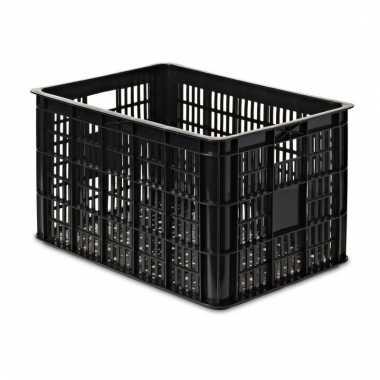 Fietsmand / opslagmand zwart 48 x 35 cm