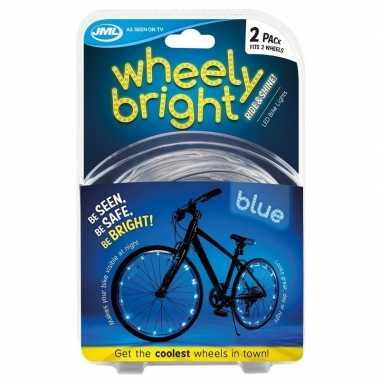 Fietswiel spaakverlichting led lichtsnoer blauw 2 stuks