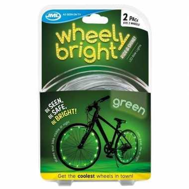 Fietswiel spaakverlichting led lichtsnoer groen 2 stuks