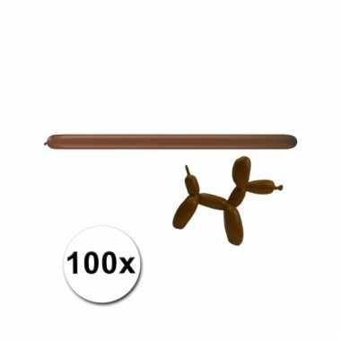 Figuurballonnen bruin 100 stuks