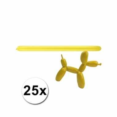 Figuurballonnen geel 25 stuks