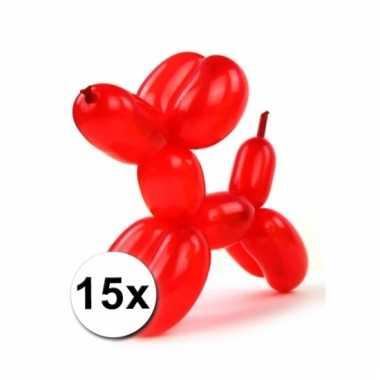 Figuurballonnen gekleurd 15 stuks