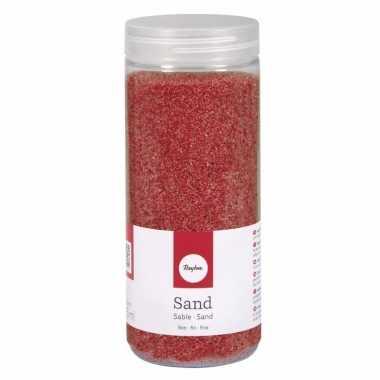 Fijne zandkorreltjes rood
