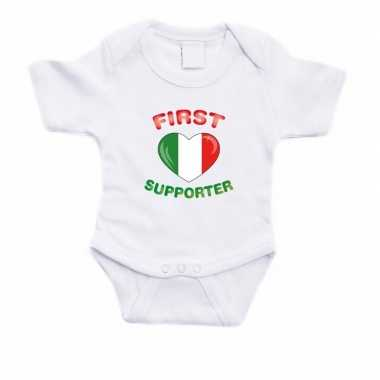 First italie supporter rompertje wit babies