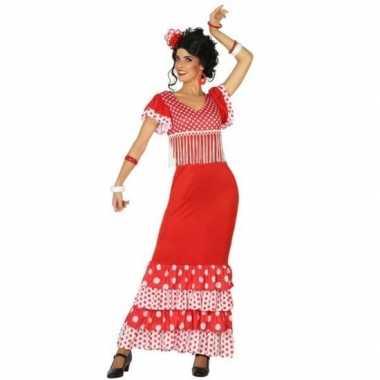 Flamenco danseres jurk rood voor dames