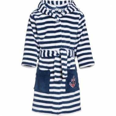 Fleece badjas maritiem voor jongens
