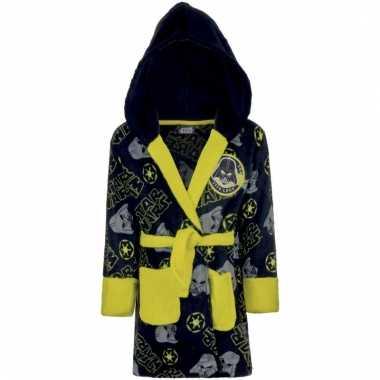 Fleece badjas star wars navy/geel voor jongens