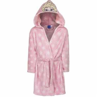 Fleece frozen badjas roze elsa