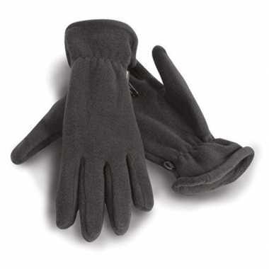 Fleece handschoenen grijs voor volwassenen