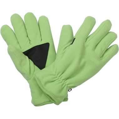 Fleece handschoenen lime van het merk thinsulate