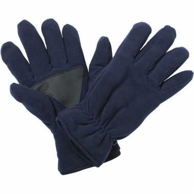 Fleece handschoenen navy van het merk thinsulate