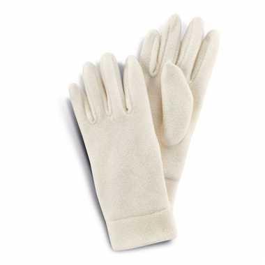 Fleece handschoenen wit voor vrouwen