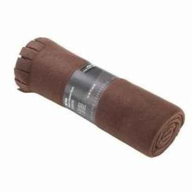 Fleece plaids bruin