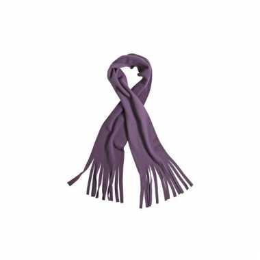 Fleece sjaals met franjes paars