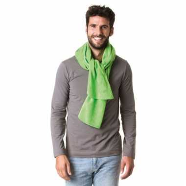 Fleece winter sjaal lime groen