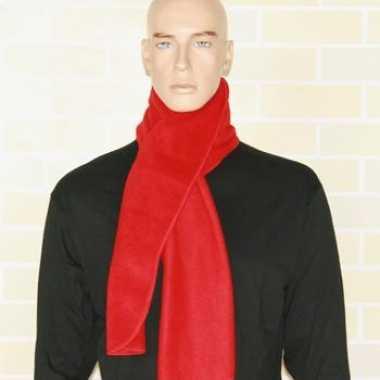 Fleece winter sjaal rood