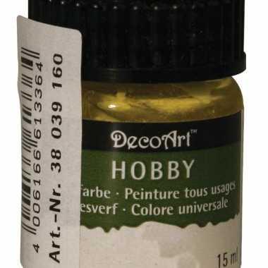 Flesje acrylverf geel 15 ml