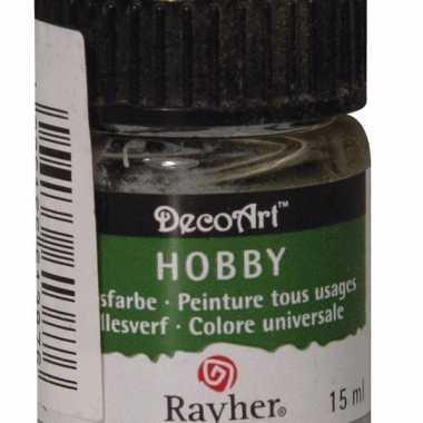 Flesje acrylverf lichtgrijs 15 ml
