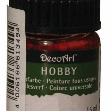 Flesje acrylverf rood 15 ml