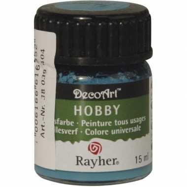 Flesje acrylverf turquoise 15 ml