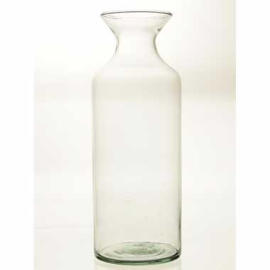 Flesvormige bloemenvaas glas 39 cm