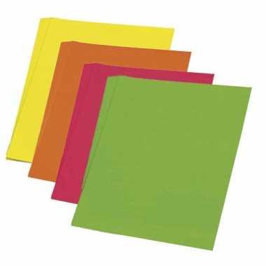 Fluoriserend oranje karton 48 x 68 cm