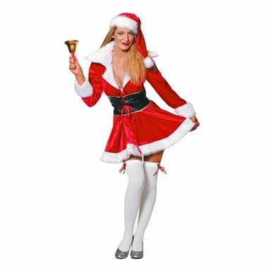 Fluweel kerst jurkje voor dames