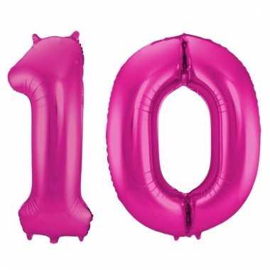 Folie ballon 10 jaar 86 cm