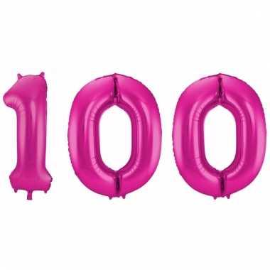 Folie ballon 100 jaar 86 cm