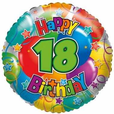 Folie ballon 18 happy birthday 35 cm