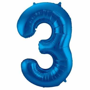 Folie ballon 3 jaar 86 cm