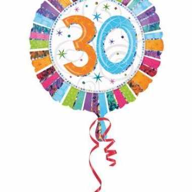 Folie ballon 30 jaar 45 cm