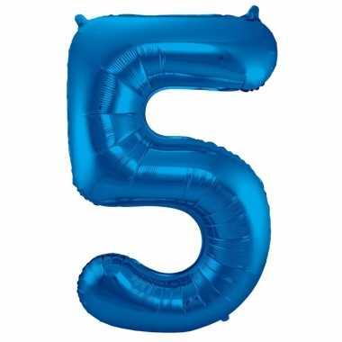 Folie ballon 5 jaar 86 cm